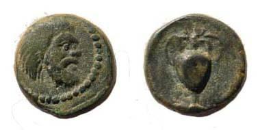 Ancient Coins - Cilicia, Nagidos. Ca 360-333 BC. Æ 9 mm (1.31 gm). SNG Levante Suppl. 9; SNG Pfälzer Privatsammlungen 956; Klein 801
