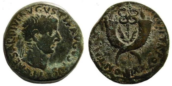 Ancient Coins - Syria, Commagene. Tiberius. 14-37 AD. AE Dupondius (13.39 gm). Struck 19-21 AD. RPC 3869; RIC I 90