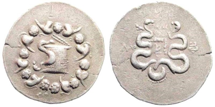 Ancient Coins - Phrygia, Laodikeia. After 133 BC. AR Cistophoric Tetradrachm (12.28 gm, 29mm). SNG von Aulock 488