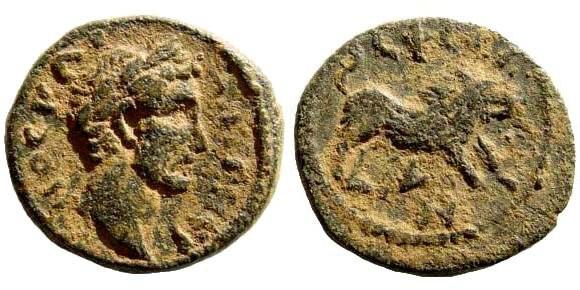 Ancient Coins - Ionia, Ephesos. Antoninus Pius, 138-161 AD. AE 18mm (3.74 gm). SNG Copenhagen 395