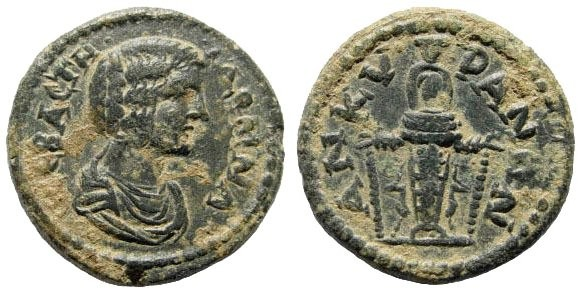 Ancient Coins - Phrygia, Ankyra. Julia Domna. 193-217 AD. AE 18mm (3.70 gm). Lindgren Coll. I, 890; SNG München 103