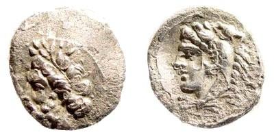 Ancient Coins - Cilicia Uncertain. 4th century BC. AR Obol (0.76 gm, 11mm). SNG Levente 198