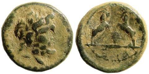 Ancient Coins - Pisidia, Sagalassos. Autonomous, 1st cent. BC- 1st cent. AD. AE 14mm (3.37 gm). SNG []von Aulock 5156; SNG France 1735