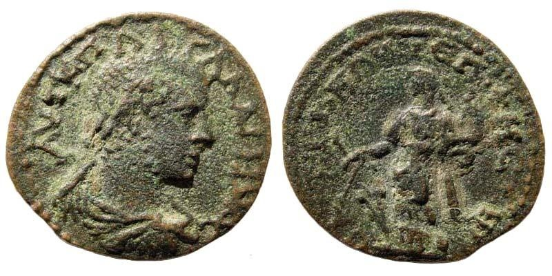 Ancient Coins - Lydia, Saitta. Gallienus, 253-268 AD. AE 24mm (5.82 gm). BMC 72