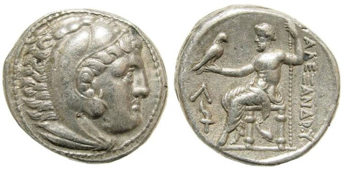 Ancient Coins - Macedonian Kings. Alexander III 'the Great'. 336-323 BC. AR Tetradrachm (16.93 gm, 27mm, 4h). 'Amphipolis' mint. circa 315-294 BC. Price 485
