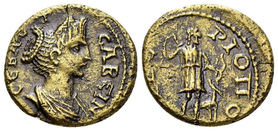 Ancient Coins - Phrygia, Tiberiopolis. Sabina, Augusta, 128-137 AD. AE 18mm (3.00 gm). RPC III 2519
