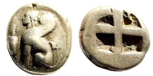 Ancient Coins - Ionia, Islands off, Chios. Circa 431-412 BC. AR Drachm (3.56 gm, 14mm). Baldwin, Chios 79; SNG von Aulock 2275