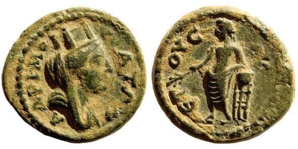 Ancient Coins - Cilicia, Mopsuestia-Mopsos. Time of M. Aurelius, 161-180 AD. AE 20mm (5.00 gm). SNG France 1977. Rare
