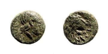 Ancient Coins - Troas, Antandros. Circa 440-400 BC. AE 9mm (0.91 gm). SNG von Aulock 7582. Klein, KM 44, 298