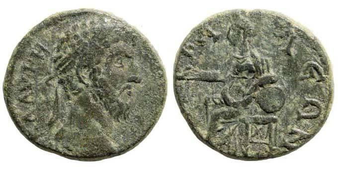 Ancient Coins - Lydia, Tabala. Lucius Verus. 161-169 AD. AE 21mm (4.94 gm). BMC 289.7; SNG Copenhagen 566; Sear 1841