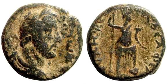 Ancient Coins - Syria, Decapolis. Philadelphia. Antoninus Pius, 138-161 AD. AE 19mm (6.44 gm). Spijkerman 17