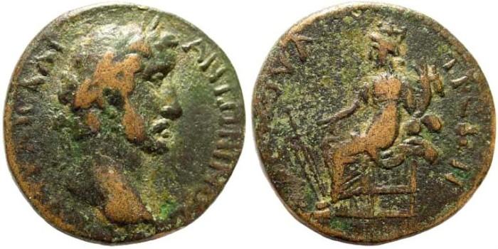 Ancient Coins - Lykaonia, Savatra. Antoninus Pius, 138-161 AD. AE 25mm (10.60 gm). Hans von Aulock, Lykaoniens 156 (same dies)