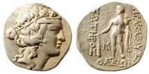 Ancient Coins - Thrace, Thasos. After 148 BC. AR Tetradrachm (16.65 gm). SNG Copenhagen 1040