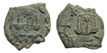 Ancient Coins - Leo V the Armenian, with Constantine. 813-820. AE Follis (2.43 gm, 18mm). Syracuse mint Sear 1638
