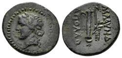 Ancient Coins - Lydia. Blaundos. (2nd-1st centuries BC. AE 16mm (2.90 gm). Apollo magistrate. BMC 14-17