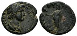 Ancient Coins - Lydia, Sardeis. Time of Nero, 54-68 AD. AE 17mm (2.98 gm). Ti. Cl. Mnaseas, strategos(?). Struck circa 65 AD. RPC I 3008