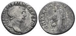 Ancient Coins - Arabia Petraea, Bostra. Trajan. 98-117 AD. AR Drachm (2.78 gm, 17.5mm). Struck 111 AD. SNG ANS 1155