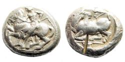 Ancient Coins - Kilikia, Kelenderis. Circa 410-375 BC. AR Stater (10.80 gm, 19mm). SNG France 53