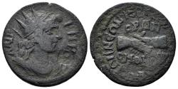 Ancient Coins - Phrygia, Hierapolis. Time of Philip I, 244-249 AD. AE 24mm (5.84 gm). Homonoia issue with Ephesus. SNG von Aulock 3662