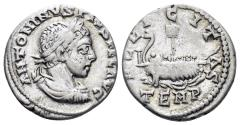 Ancient Coins - Elagabalus. 218-222 AD. AR Denarius (2.95 gm, 18mm). Antioch mint. Struck 218-219 AD. RIC IV 188