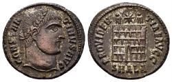 Ancient Coins - Constantine I. 307/310-337 AD. AE Nummus (3.38 gm, 19mm). Alexandria mint, 325-6 AD. RIC VII 34