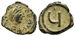 Ancient Coins - Tiberius II Constantine. 578-582. AE Pentanummium (3.06 g, 12mm). Constantinople mint. Struck 579-582. SB 438