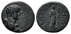 Ancient Coins - Lydia, Philadelphia. Domitian, 81-96 AD. AE 14mm (2.47 gm). Struck 69-81 AD. RPC 1331