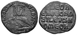 Ancient Coins - Leo VI the wise, 886-912 AD. AE Follis (3.64 gm, 24mm). Constantinople mint. SB 1729; DOC 8
