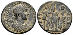 Ancient Coins - Phoenicia, Tyre. Elagabalus. 218-222 AD. AE Dichalkon (15.52 gm, 29mm). Rouvier 2350