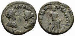 Ancient Coins - Lydia, Cilbiani Inferiores (Nicaea). Marcus Aurelius, with Faustina Junior. 161-180 AD. AE 21mm (6.00 gm). RPC Online No 1222