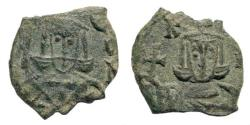 Ancient Coins - Leo V the Armenian, with Constantine. 813-820. AE Follis (2.43 gm, 18mm). Syracuse mint Sear 1638