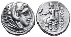 Ancient Coins - Macedonian Kingdom. Kassander 306-297 BC. As Regent, 317-305 BC. AR Tetradrachm (16,85 gm, 23mm). Amphipolis mint. Price 129