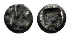 Ancient Coins - Achaemenid Empire. Time of Dareios I. Circa 510-486 BC. AR (0.19 gm, 4mm). Klein 760. Rare