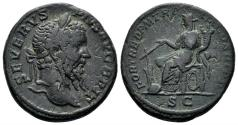 Ancient Coins - Septimius Severus. 193-211 AD. AE As (10.07 gm, 24mm). Rome mint. Struck 211 AD. RIC IV 810