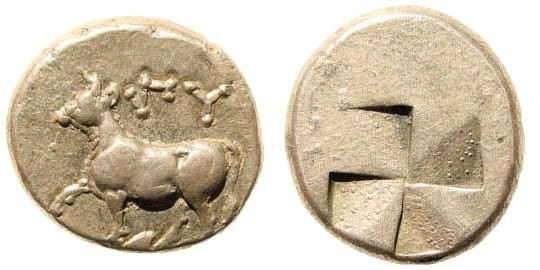 Ancient Coins - Thrace, Byzantium ca. 416-357 BC, AR Siglos (5.36 gm, 17mm). SNG Copenhagen 475
