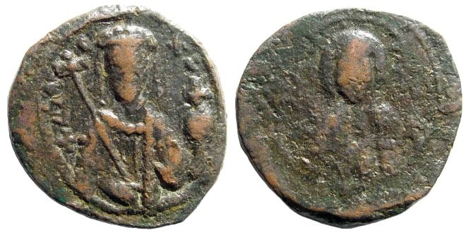 Ancient Coins - Alexius I, 1092-1118 AD. AE Tetarteron (2.7 gm, 20mm). Thessalonica mint. Sear 1929