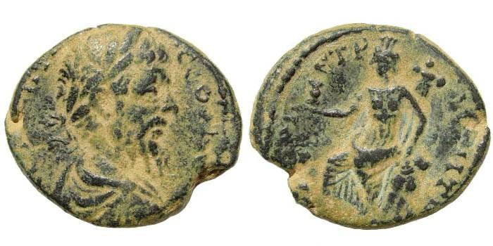 Ancient Coins - Syria, Decapolis. Petra. Septimius Severus, 193-211 AD. AE 26mm (9.50 gm). BMC (Arabia) pg. 36, #15