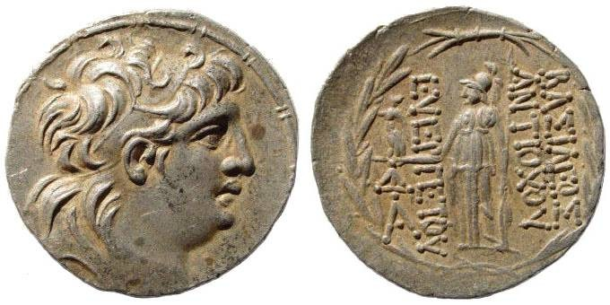 Ancient Coins - Seleucid Kingdom, Antiochus VII 138-129 BC, AR Tetradrachm (16.28 gm). Antioch