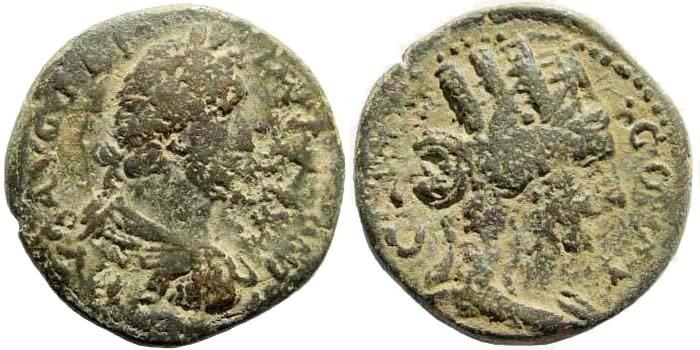 Ancient Coins - Judaea, Aelia Capitolina (Jerusalem). Antoninus Pius, 138-161 AD. AE 23mm (8.71 gm). Meshorer, Aelia Capitolina 21