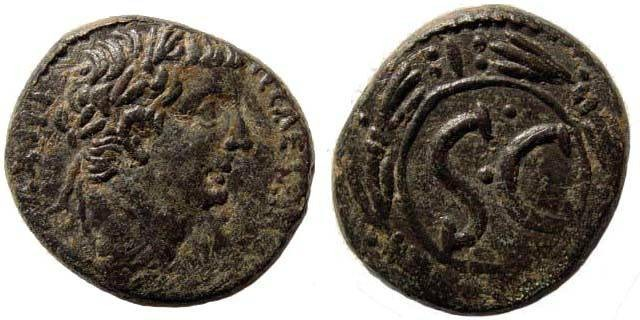 Ancient Coins - Seleucis and Pieria, Antioch. Tiberius. 14-37 AD. Æ 27.06 mm (16.96 gm). Struck 31/2 AD. RPC I 4272