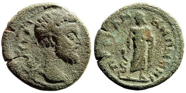 Ancient Coins - Mysia, Pergamon. Septimius Severus, 193-211 AD. AE 19mm (3.67 gm). SNG BN Paris 2205 (same obverse die)