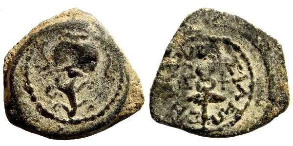 Ancient Coins - Judaea, Herodian Kings. Herod I (the Great). 40-4 BCE. AE 2 Prutot (3.90 gm, 20mm). Hendin 488; AJC-3