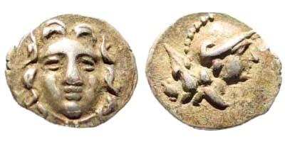 Ancient Coins - Pisidia, Selge. Circa. 400-333 BC. AR Obol (0.67 gm, 11mm). SNG Copenhagen 246
