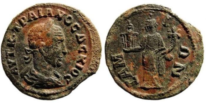Ancient Coins - Ionia, Islands off, Samos. Trajan Decius 249-251 AD. AE 30 mm (12.86 gm). SNG Copenhagen 1780 (same dies)