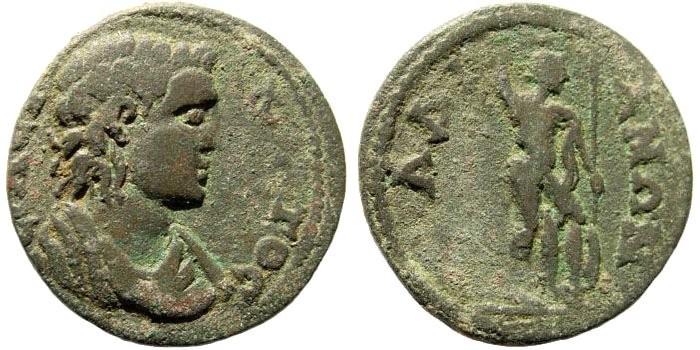 Ancient Coins - Lydia, Daldis. Severan Dynasty, 193-235 AD. AE 25mm (5.96 gm). Unpublished