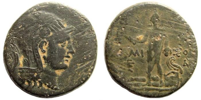 Ancient Coins - Pontos, Amisos. Circa 109-89 BC. AE 29mm (18.53 gm). SNG BM Black Sea 1169