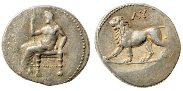 Ancient Coins - Babylon. Generals of Alexander the Great after his demise. Ca..322-312 BC. AR Double Shekel (16.42 gm, 25mm). Mitschiner, Indogreeks 7 e