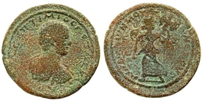 Ancient Coins - Kilikia, Mopsos. Geta Caesar, 198-209 AD. AE 35mm (15.66 gm). SNG BN Paris 1989; SNG PfPs 936. Ex Karbach collection