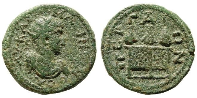 Ancient Coins - Pamphylia, Perga. Maximinus Thrax. 235-238 AD. AE 26mm (9.12 gm). SNG von Aulock 4693