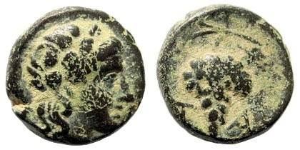 Ancient Coins - Aiolis, Temnos. 3rd century BC. AE 12mm (1.99 gm). SNG Copenhagen 252